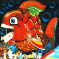 Pesce rosso gonfiabile animato - produzione e vendita