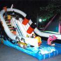 "The giant inflatable slide boat ""Titanic"" arrangement"