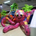 Polyp- Inflatable structure in 3 parts - sea theme - manufacture and supply