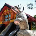 Chalet playground gonfiabile - grande asino