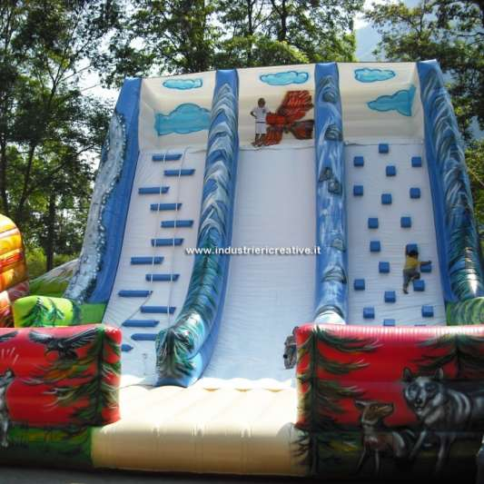 Giant inflatable slide Mountain - production and sale