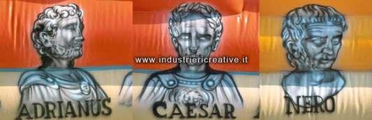 Esempio decorazioni gioco gonfiabile - Imperatori Romani