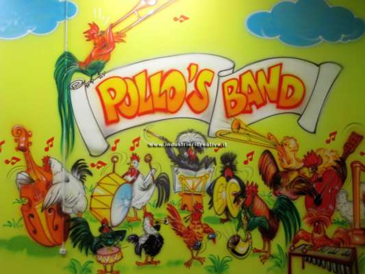 Pollo's band! - decorazione parete parco giochi