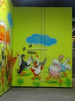 Pollo's band! - pittura pareti parco giochi