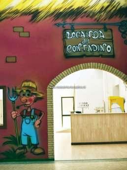 Pitture murali parco giochi per bambini - Contadino