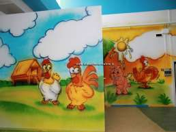 Baby area wall decorations - farm animals - chickens