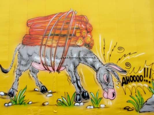 Decorazioni area di gioco per bambini - animali della fattoria - asino