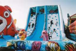 the inflatable slide Wave - front view