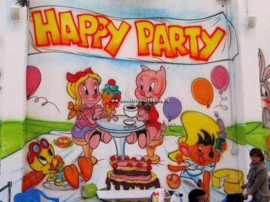 Decorazioni area di gioco per bambini - cartoni animati - compleanno