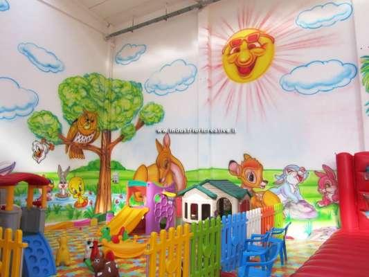 Decorazioni area di gioco per bambini - cartoni animati - bambi walt disney