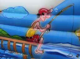 Play area decorations - water theme - sea - fisherman