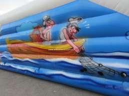 Decorazioni area di gioco per bambini - acqua - tema mare - pescatori, pesce, onde