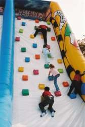 the giant inflatable Wave - funny climbing ramp