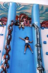 the giant inflatable slide Wave - children playing