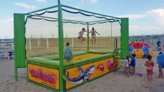 Trampoline for sale - rectangular one-place model