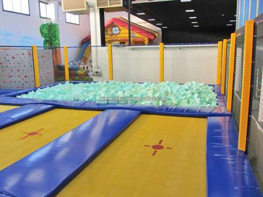 Trampoline park - trampolines with foam pit