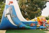 the Wave inflatable slide - side decoration