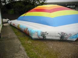 The big Mountain of Air inflatable playground - fully inflated