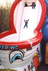 "Inflatable game ""Super WC"" - original funny slide for dizzy kids"