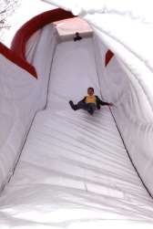 "The giant inflatable slide ""Super WC"" - view of the fall"