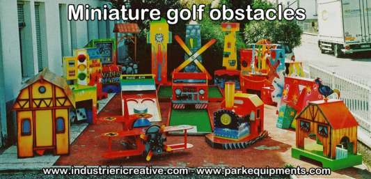 Miniature golf obstacles - manufacture and sale