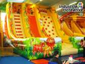 "Inflatable slide ""the jungle"" - side view"