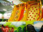 "Inflatable slide ""the jungle"" - left side view"