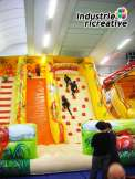 "Inflatable slide ""the jungle"" - one coloured ramp"