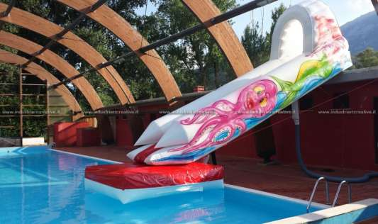 Inflatable slide for swimming pool - manufacturing and sale
