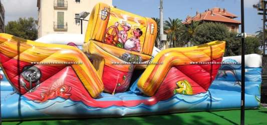 Inflatable game Boat for playgrounds and luna park - manufacture and supply