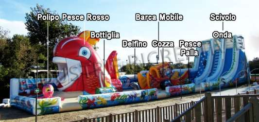 Inflatable structure in 3 pieces - sea theme