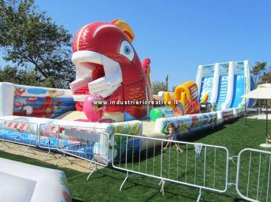 Struttura gonfiabile Mare - produzione e vendita giochi gonfiabili personalizzati per parco giochi e lunapark
