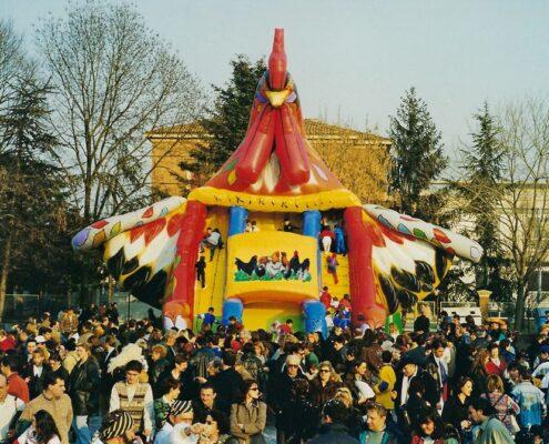 Gioco gonfiabile Gallo - vendita di scivoli gonfiabili per bambini - construction et vente de toboggan gonflable Cog