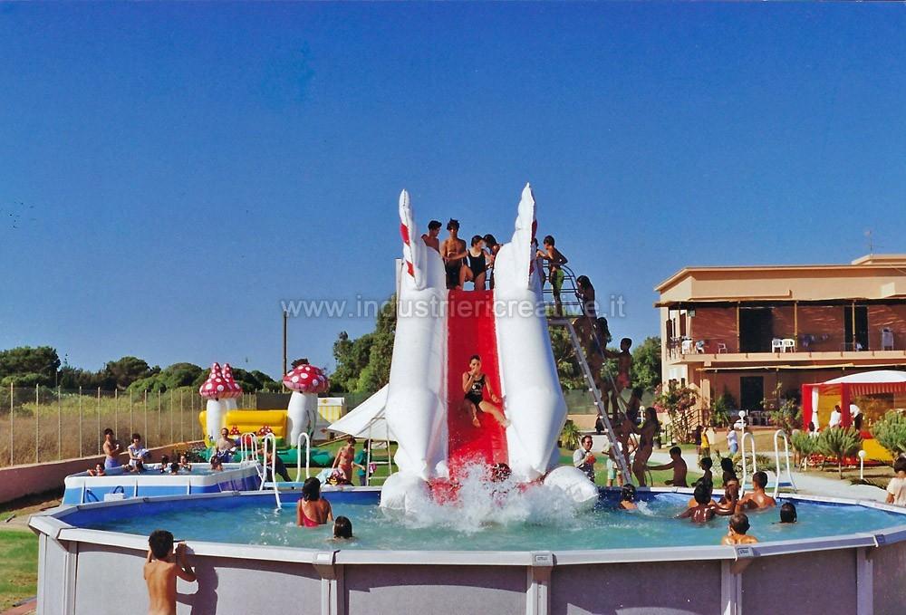 Acquascivoli gonfiabili per piscine produzione e vendita - Scivolo gonfiabile per piscina ...