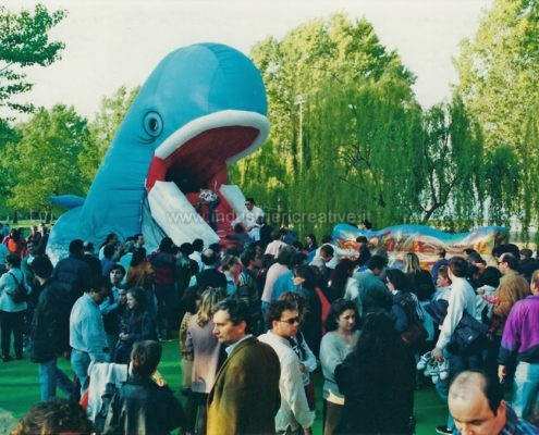 Balena gonfiabile - parco giochi outdoor