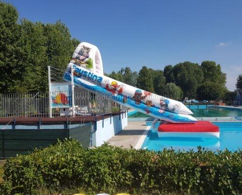 Produzione e vendita di acqua scivolo gonfiabile per parchi acquatici