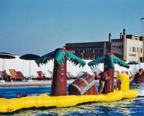 Percorso gonfiabile ad ostacoli per piscine - produzione e vendita