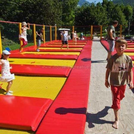Vendita di tappeti da salto professionali - trampolinanlage für sportliche, trampolinanlage für Spielplätze, trampolinanlage für Campingplätze, Hotels, Restaurants - Trampolinanlage verkauf und produktion