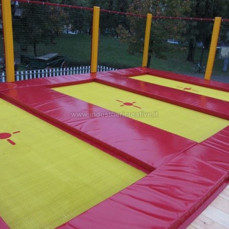 Modular trampolines supply - Tappeti elastici vendita - trampolinanlage für sportliche, trampolinanlage für Spielplätze, trampolinanlage für Campingplätze, Hotels, Restaurants - Trampolinanlage verkauf und produktion