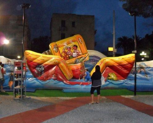 Vendita di gioco gonfiabile per bambini Barca Mobile - vente de jeux gonflable