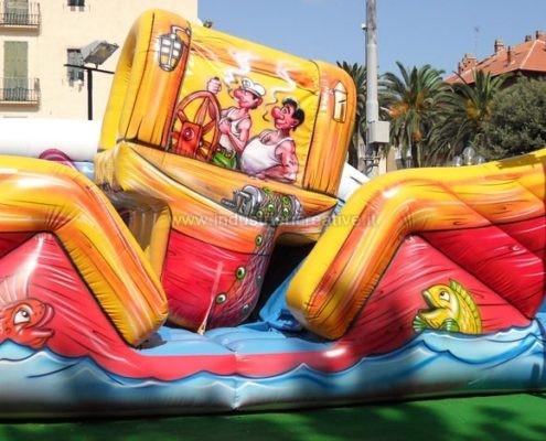 Vendita di gioco gonfiabile Barca Mobile