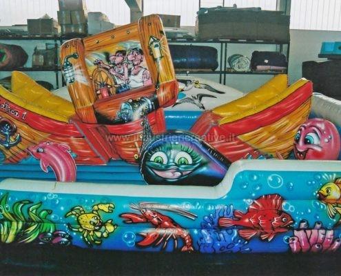 Vendita di gioco gonfiabile per bambini Barca Mobile