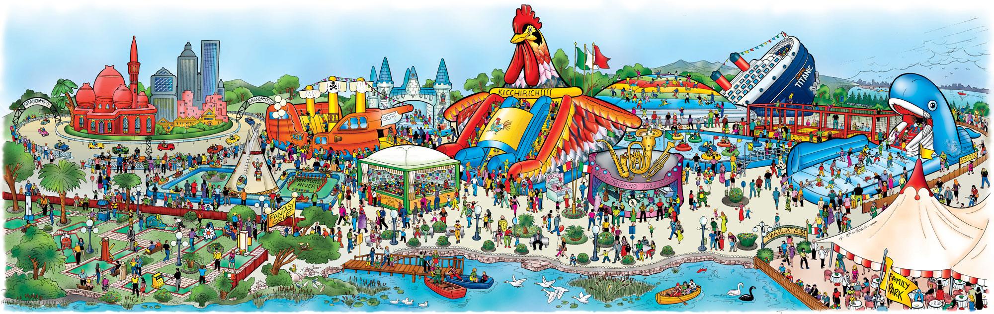 Vendita attrezzature per parchi gioco, luna park, family park, piscine, centri sportivi, ecc