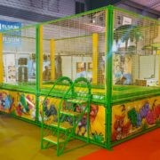 "Trampolino singolo ""Jumping House"" - colore verde"