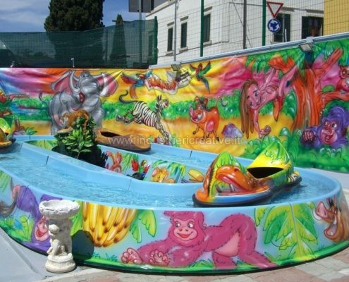 Attrazione acquatica Jungle River - produzione e vendita - fabrication de manèges pour parcs d'attractions