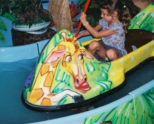 Vendita canoe per attrazione acquatica Jungle River - fabrication de manèges pour parcs d'attractions