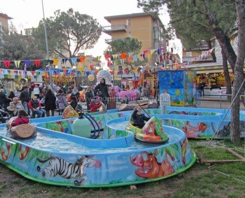 Water attraction supply - Giostra acquatica Jungle River per luna park e parco giochi - produzione e vendita - fabrication de manèges pour parcs d'attractions