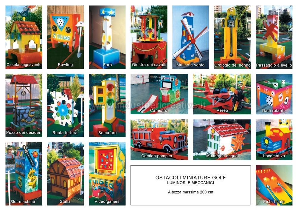 Produzione e vendita di piste da minigolf animato