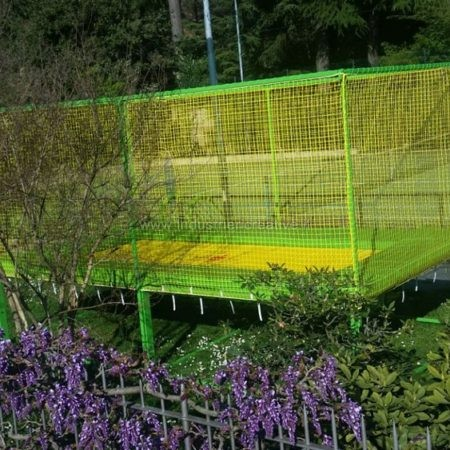 Professional rectangular garden trampoline - manufacturing and supply