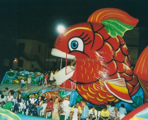 Vendita di gonfiabili animati - gioco gonfiabile pesce - pesce gonfiabile - inflatable games manufacturers - fabricants de jeux gonflables - Poisson Rouge gonflable